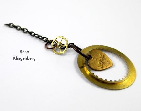 Boho Steampunk Earrings - tutorial by Rena Klingenberg