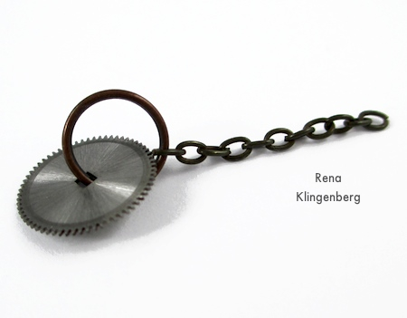 Gears and chains for Boho Steampunk Earrings - tutorial by Rena Klingenberg