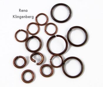 Jump rings for Boho Steampunk Earrings - tutorial by Rena Klingenberg