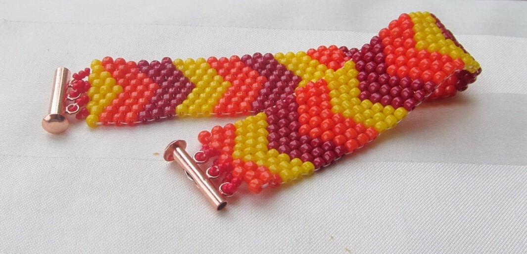 Chevron Bracelet: Pentecost Inspired