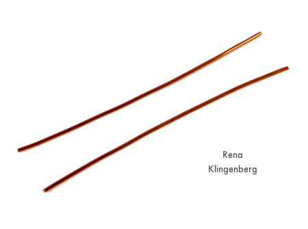 Cutting wire for Inside Loop Earwires - tutorial by Rena Klingenberg