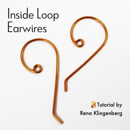 Inside Loop Earwires - tutorial by Rena Klingenberg