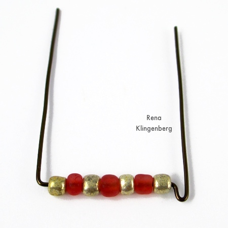 Wirework for Seed Bead Adjustable Wire Ring - tutorial by Rena Klingenberg