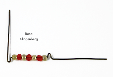 Shaping wire for Seed Bead Adjustable Wire Ring - tutorial by Rena Klingenberg