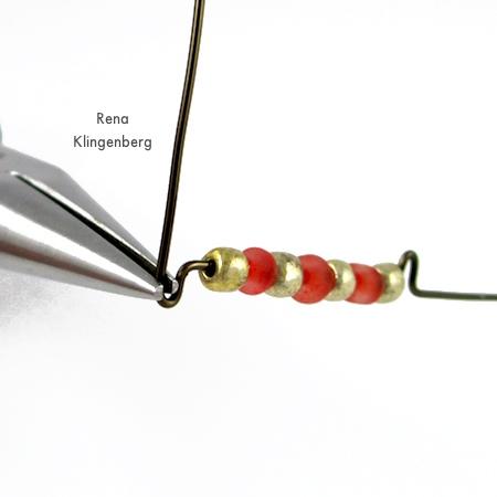 Seed Bead Adjustable Wire Ring - tutorial by Rena Klingenberg