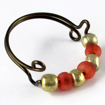 Seed Bead Adjustable Wire Ring (Tutorial)