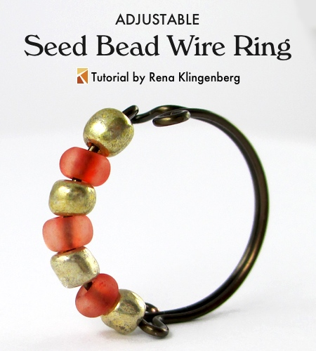 Wire Ring Beads: Seed Bead Adjustable Wire Ring (Tutorial)