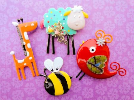 Cute Kids Brooches – Jewelry Making Journal