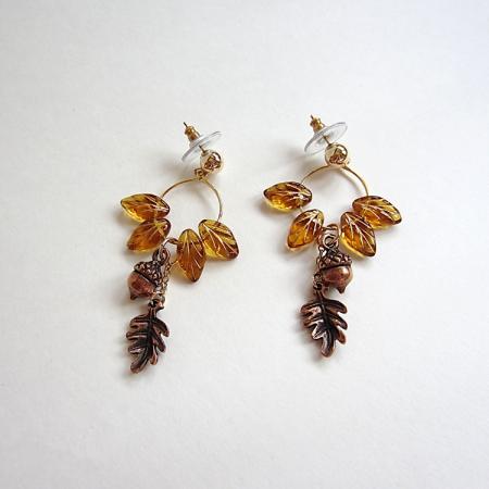 MWong: Fall Foliage Earrings