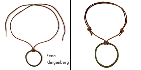 Where to tie your knots - Adjustable Sliding Knot Necklace - tutorial by Rena Klingenberg