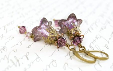 Painted Lucite Flower Earrings - Melissa Arnold
