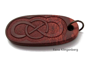 Carved stone pendant for Rustic Leather Cord and Bead Necklace - tutorial by Rena Klingenberg