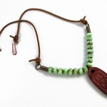 Rustic Leather Cord and Bead Necklace - tutorial by Rena Klingenberg