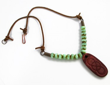 Rustic Leather & Bead Necklace (Tutorial)