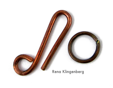 Hook and Eye Clasp for Rustic Leather Cord and Bead Necklace - tutorial by Rena Klingenberg