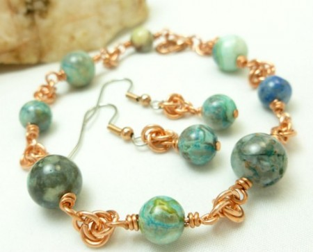 DSchamp:  Crazy Lace & Chainmaille Bracelet 1