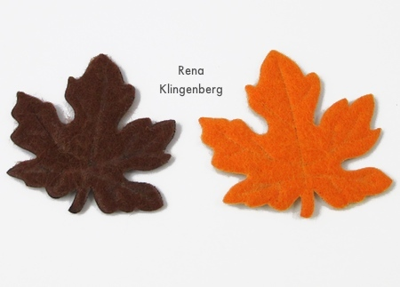 Felt autumn leaves from the dollar store for earrings - Rena Klingenberg