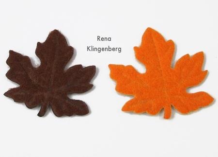 Senti folhas de outono da loja do dólar para brincos - Rena Klingenberg
