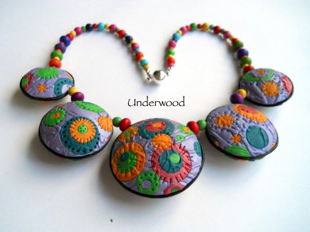 Colorful Hollow beads reverse side.