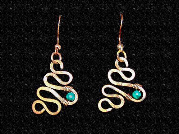 Salvaged Copper Jewelry