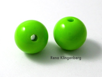 Beads for Creepy Crawly Spider Earrings - tutorial by Rena Klingenberg