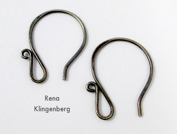 Earwires for Creepy Crawly Spider Earrings - tutorial by Rena Klingenberg