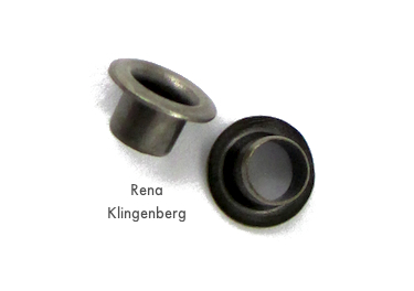 Metal eyelets for Colorful Autumn Leaf Earrings - tutorial by Rena Klingenberg