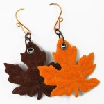 Dollar Store Autumn Leaf Earrings - tutorial by Rena Klingenberg