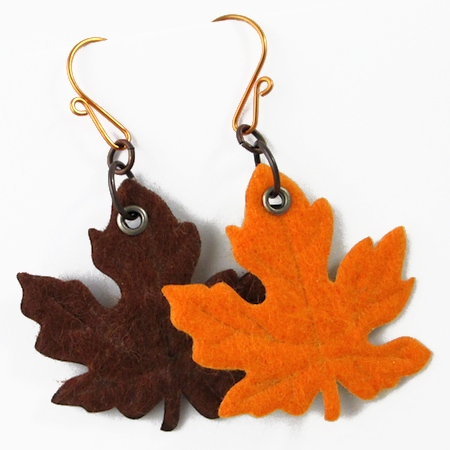 Colorful Autumn Leaf Earrings (Tutorial)
