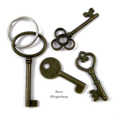 Easy Way to Open a Split Key Ring - tutorial by Rena Klingenberg