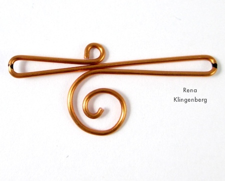 Wire Ear Cuff with Changeable Dangles - tutorial by Rena Klingenberg