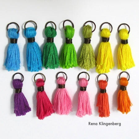 How to make tassels for jewelry - Colorful Tassel Jewelry - tutorial by Rena Klingenberg