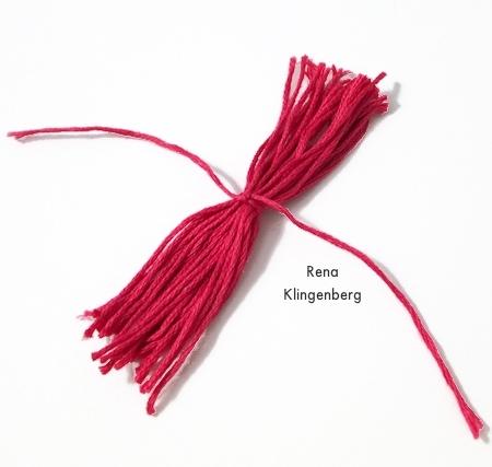 Colorful Tassel Jewelry - tutorial by Rena Klingenberg