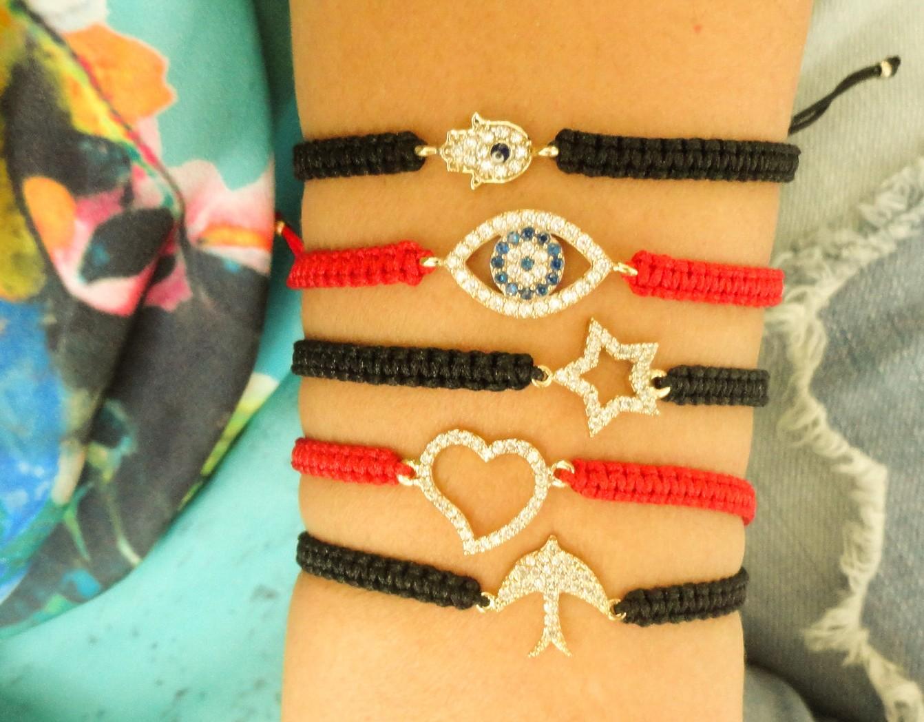 Zircon Macrame Bracelets