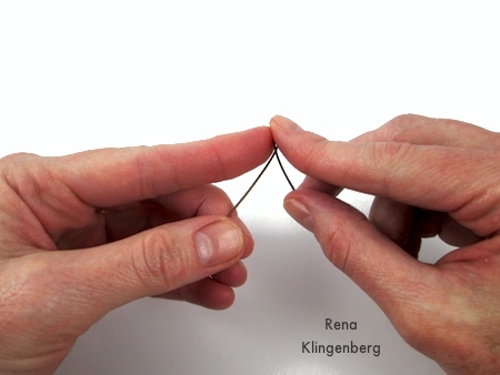 Making finger loops for Curly Wire and Crystal Earrings - tutorial by Rena Klingenberg