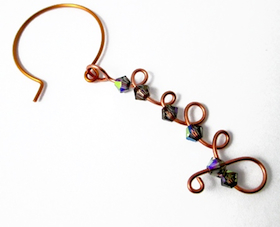 Curly Wire & Crystal Earrings (Tutorial)
