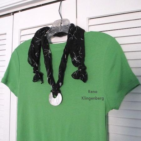 Easy Scarf Necklace - tutorial by Rena Klingenberg