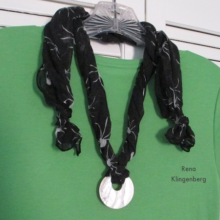 Easy Scarf Necklace - tutorial by Rena Klingenberg