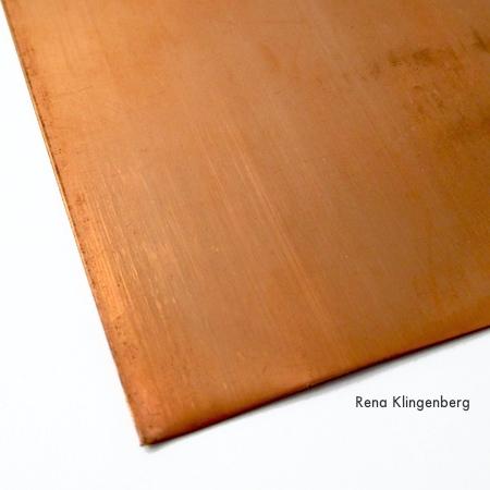 Copper sheet for Stacking Copper Bracelets - tutorial by Rena Klingenberg