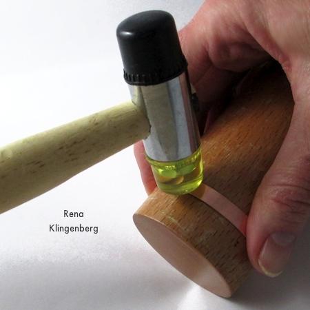 Hammering metal into bracelet shape - Stacking Copper Bracelets - tutorial by Rena Klingenberg