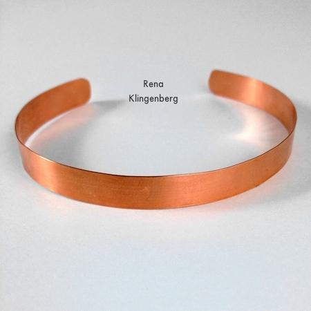 Finished bracelet for Stacking Copper Bracelets - tutorial by Rena Klingenberg