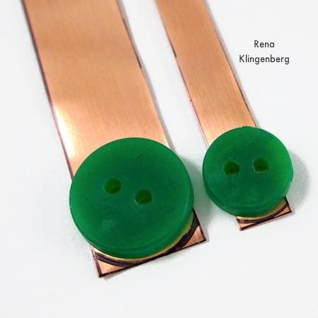 Trimming ends off Stacking Copper Bracelets - tutorial by Rena Klingenberg