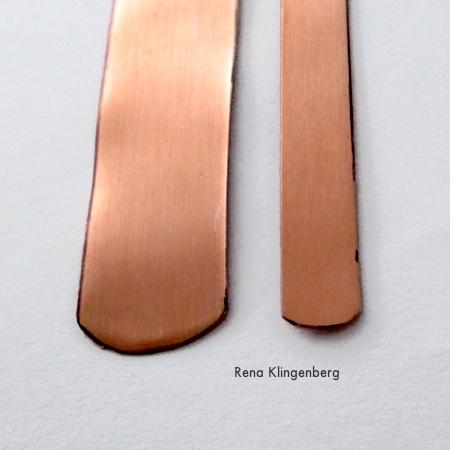 Rounded bracelet ends for Stacking Copper Bracelets - tutorial by Rena Klingenberg