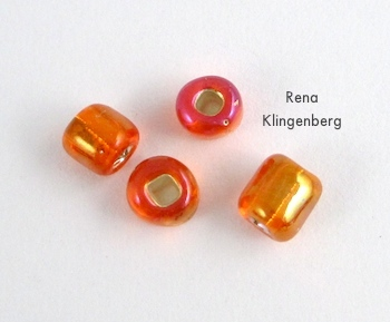 Seed beads for Bead and Coil Earwires - tutorial by Rena Klingenberg