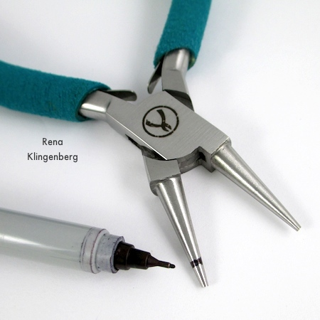 Marking pliers for Bead and Coil Earwires - tutorial by Rena Klingenberg