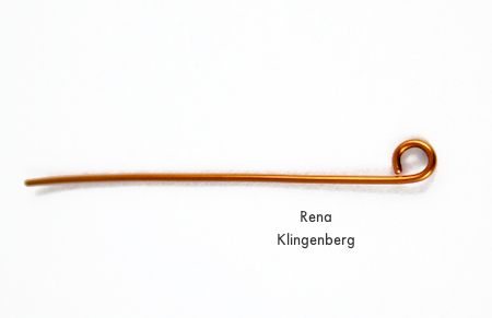 Wire loop for Bead and Coil Earwires - tutorial by Rena Klingenberg