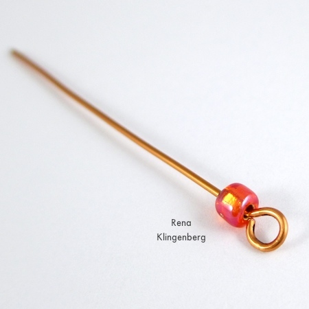Adding a bead to Bead and Coil Earwires - tutorial by Rena Klingenberg