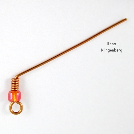 Bending earwire for Bead and Coil Earwires - tutorial by Rena Klingenberg