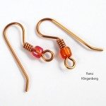 Bead and Coil Earwires - tutorial by Rena Klingenberg