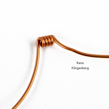 Making wire coils for Bead and Coil Earwires - tutorial by Rena Klingenberg